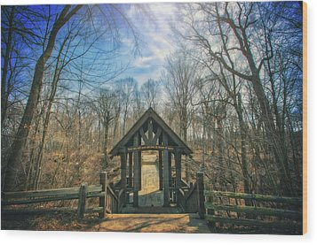 Entrance To Seven Bridges - Grant Park - South Milwaukee #3 Wood Print by Jennifer Rondinelli Reilly - Fine Art Photography