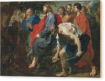 Entry Of Christ Into Jerusalem Wood Print by Sir Anthony van Dyke