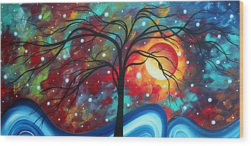 Envision The Beauty By Madart Wood Print by Megan Duncanson