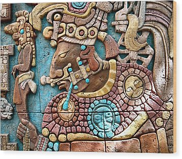 Epcot Mayan Warrior Wood Print