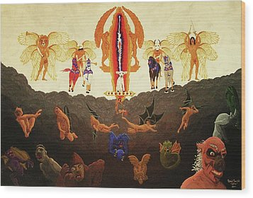 Epic - In The Valley Of Megiddo Wood Print by Rand Swift