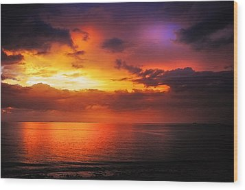 Epic End Of The Day At Equator Wood Print by Jenny Rainbow