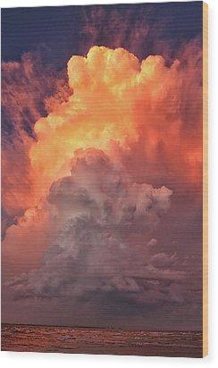 Epic Storm Clouds Wood Print