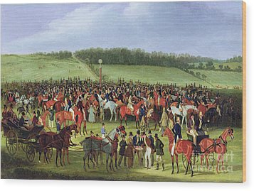 Epsom Races - The Betting Post Wood Print by James Pollard