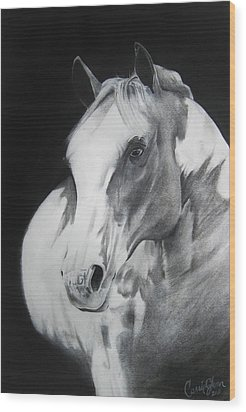 Equestrian Beauty Wood Print by Carrie Jackson