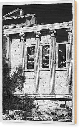 Erechtheum Columns Wood Print by John Rizzuto