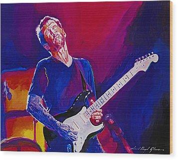 Eric Clapton - Crossroads Wood Print by David Lloyd Glover