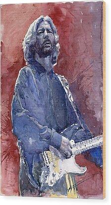 Eric Clapton 04 Wood Print by Yuriy  Shevchuk