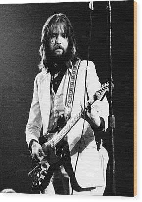 Eric Clapton 1973 Wood Print by Chris Walter