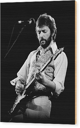 Wood Print featuring the photograph Eric Clapton 1977 Bo 2 by Chris Walter