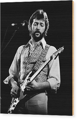 Eric Clapton 1977 Wood Print by Chris Walter