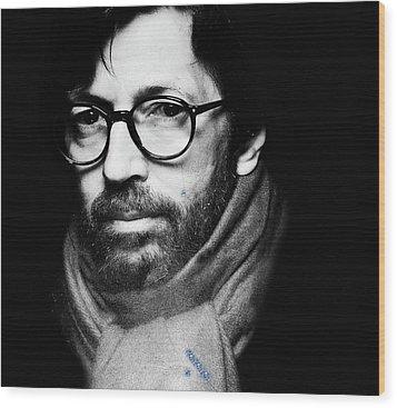 Eric Clapton Wood Print by Allen Beilschmidt