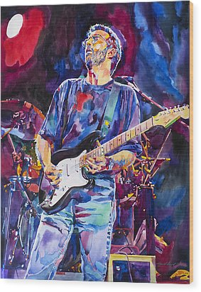 Eric Clapton And Blackie Wood Print by David Lloyd Glover