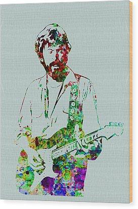 Eric Clapton Wood Print by Naxart Studio