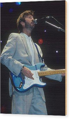 Eric Clapton Wood Print by Rich Fuscia