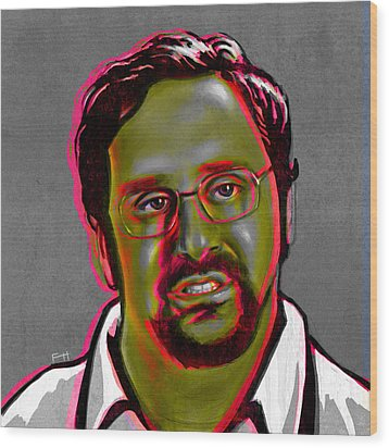 Eric Wareheim Wood Print by Fay Helfer