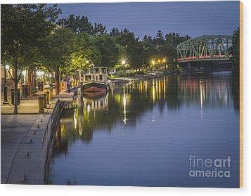 Erie Canal Stroll Wood Print