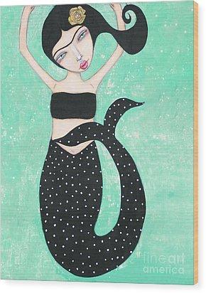 Eris Wood Print by Natalie Briney