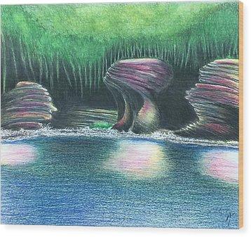 Eroding Away Wood Print by Sotiri Catemis