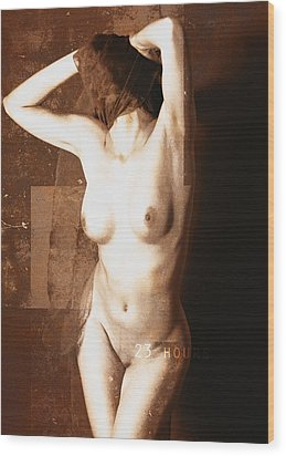 Erotic Art  23 Hours Wood Print by Falko Follert