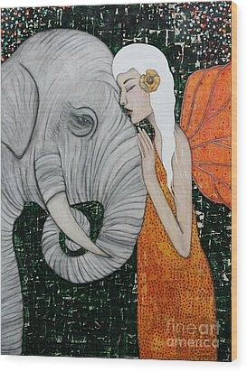 Erynn Rose Wood Print by Natalie Briney