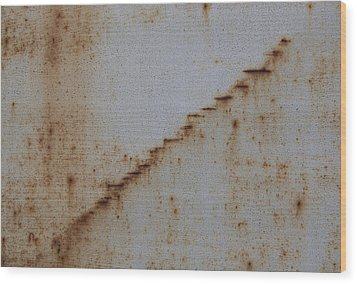 Escalator Wood Print