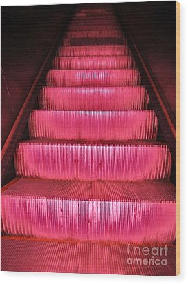 Escalier Wood Print by Reb Frost