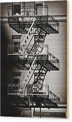 Escape Wood Print by Dave Bowman