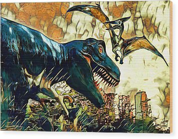 Escape From Jurassic Park Wood Print by Pennie  McCracken