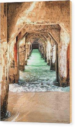 Escape To Atlantis Wood Print by Pennie  McCracken