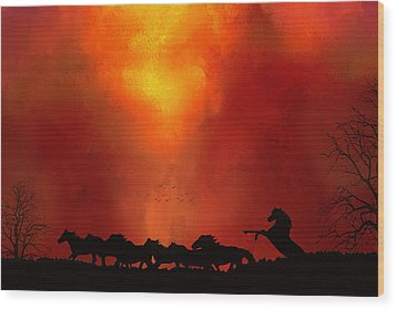 Wood Print featuring the photograph Escaping The Inferno by Diane Schuster