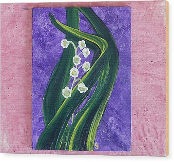 Escaping Winter Lilly Of The Valley Wood Print