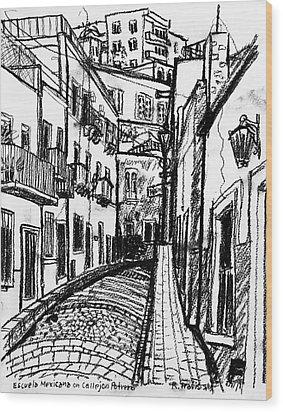 Escuela Mexicana Wood Print by Rich Travis