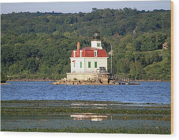Wood Print featuring the photograph Esopus Lighthouse In Summer #4 by Jeff Severson