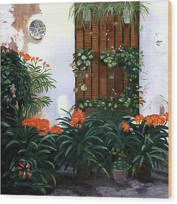 Wood Print featuring the painting Espana by Lynne Reichhart