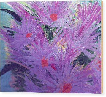 Especially For You Lavender Lovers Wood Print by Anne-Elizabeth Whiteway