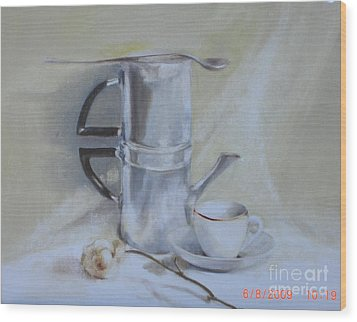 Espresso For One          Copyrighted Wood Print by Kathleen Hoekstra