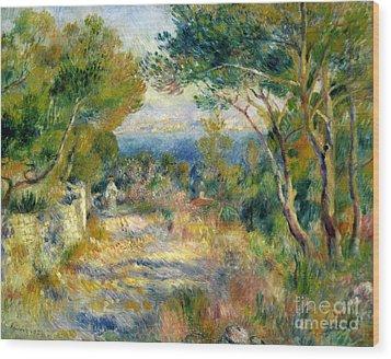 Estaque Wood Print by Renoir