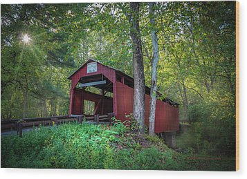 Wood Print featuring the photograph Esther Furnace Bridge by Marvin Spates