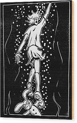 Esther V Wood Print by Josean Rivera