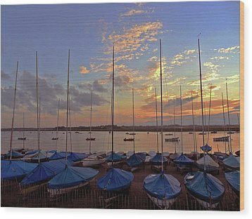 Wood Print featuring the photograph Estuary Evening by Anne Kotan