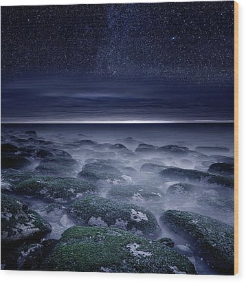 Wood Print featuring the photograph Eternal Horizon by Jorge Maia