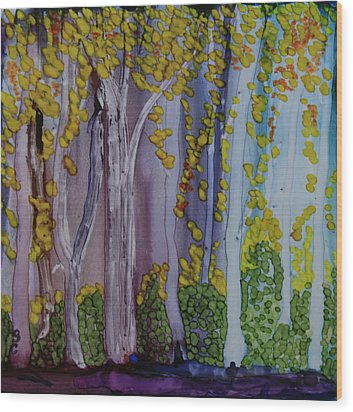 Ethereal Forest Wood Print by Suzanne Canner