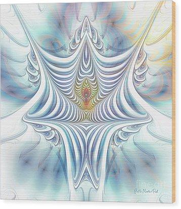 Wood Print featuring the digital art Ethereal Treasure by Jutta Maria Pusl