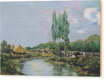 Ethiopian Countryside. Wood Print