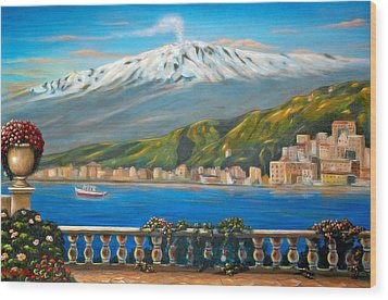 Etna Sicily Wood Print