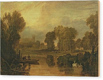 Eton College From The River Wood Print by Joseph Mallord William Turner
