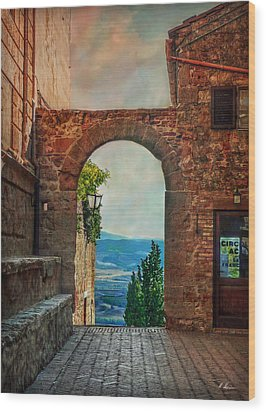 Wood Print featuring the photograph Etruscan Arch by Hanny Heim