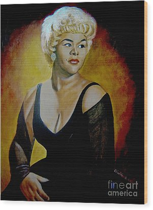 Etta James Wood Print