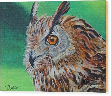 Eurasian Eagle-owl Wood Print by Isabel Proffit